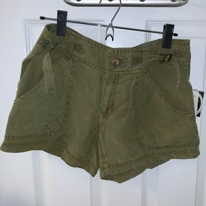 Free People olive green shorts NWT